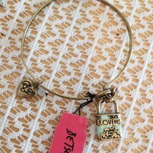 Betsey Johnson vintage lock bracelet